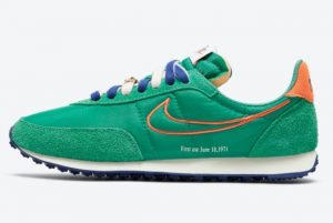 """New Nike Waffle Trainer 2 """"First Use"""" Green Noise Sail-Deep Royal Blue-Orange 2021 For Sale DH4390-300"""